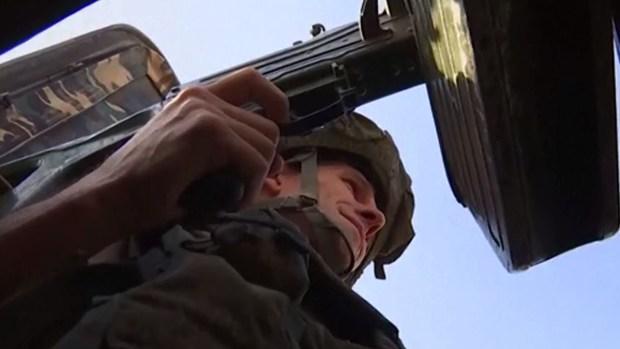 Con los pelos de punta: patrulla rusa recorre ''la zona de la muerte''