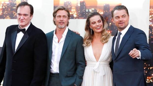 Brad Pitt y Leonardo DiCaprio, juntos con Tarantino