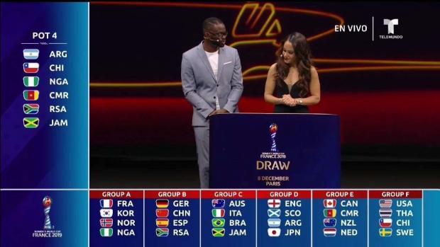 Quedan definidos los grupos de la Copa Mundial femenina Francia 2019