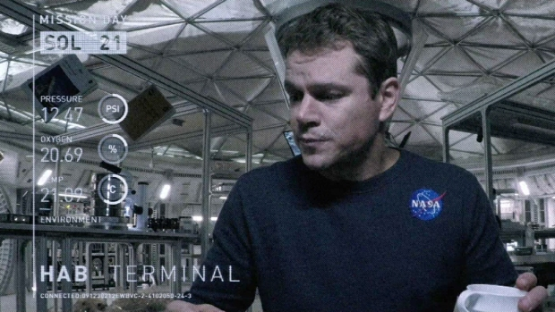 "Avance de la película ""The Martian"""