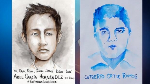Fotos: Arte para ilustrar el dolor por la desaparición de 43 estudiantes