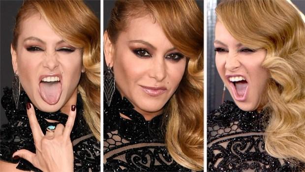 Paulina Rubio enseña ropa interior en los Grammy