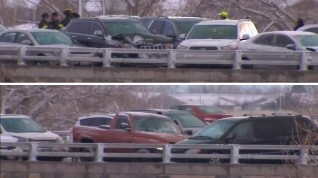 [TLMD - NATL] En imágenes: choque múltiple de 49 autos causa caos en Colorado