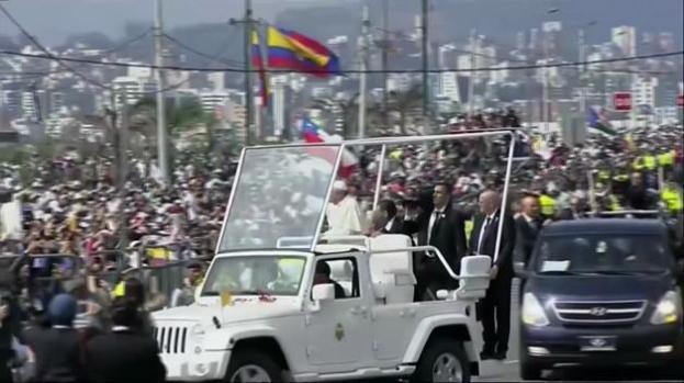 El Papa da mensaje de unidad en Ecuador