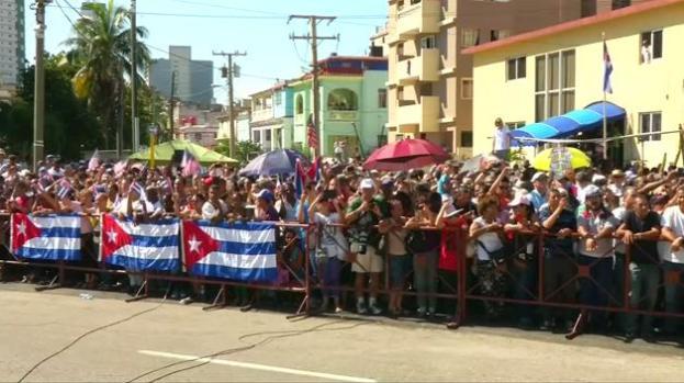 Bandera estadounidense ondea en Cuba por primera vez desde 1961