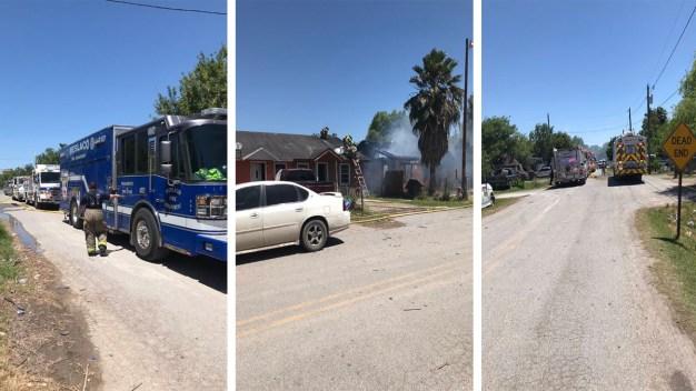 Reportan incendio en una residencia en Weslaco