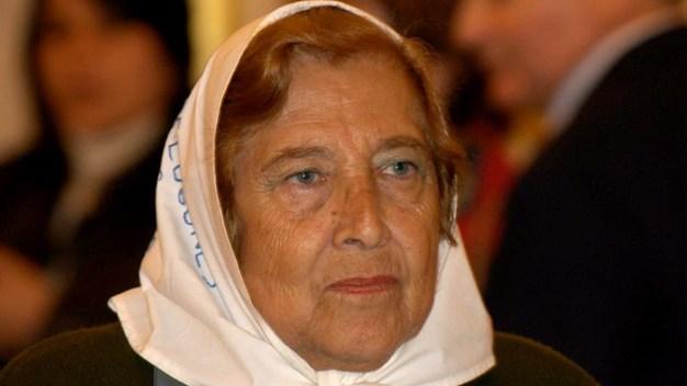 Muere la presidenta de Madres de Plaza de Mayo
