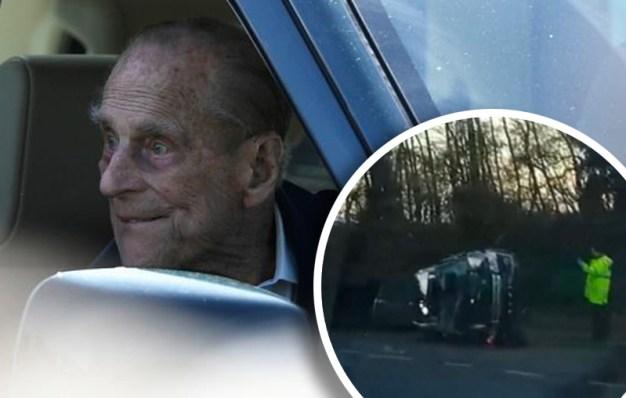 Pillado: principe Felipe conduce sin cinturón de seguridad tras choque
