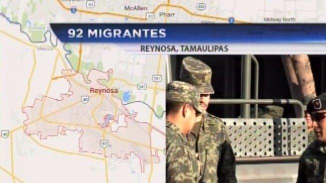 Encuentran a 92 inmigrantes secuestrados en Reynosa