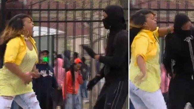 Baltimore: madre golpea a su hijo enmascarado