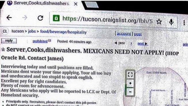 Discriminan a mexicanos en aviso de empleo