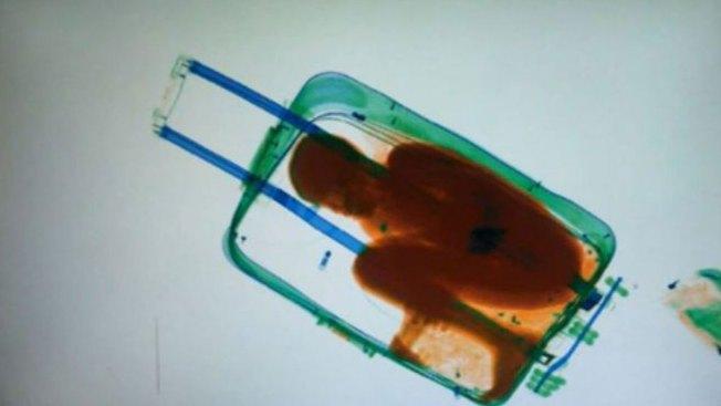 Escáner detecta a niño migrante en una maleta