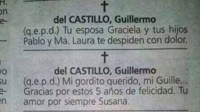 Obituarios destapan su doble vida