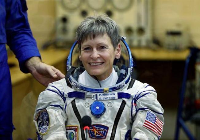 Ella es la astronauta de EU con más tiempo en el espacio