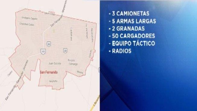Confiscan armas y vehículos en Tamaulipas
