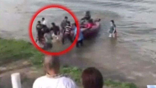 En video lancha con herido en parque Anzalduas